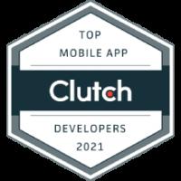 2021 Top Mobile App Developers Award Winner - Clutch Award